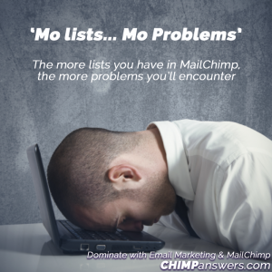 Mo Lists Mo Problems